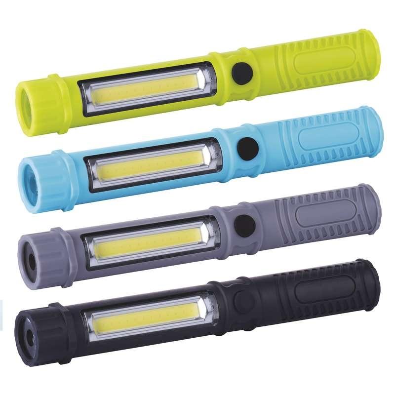 Emos LED svítilna plastová, 3W COB LED + 1x LED, na 3x AAA - zelená
