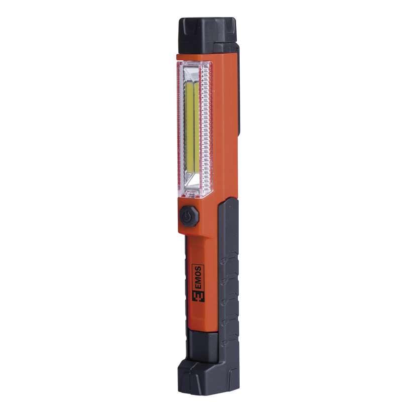 Emos P4700; LED svítilna plastová, 1,5W COB LED + 1x LED, na 3x AAA
