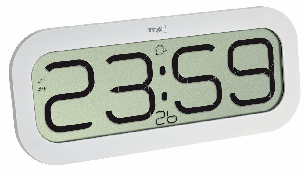 TFA Dostmann Rádiem řízené nástěnné hodiny TFA 60.4514.02 BIMBAM, bílá