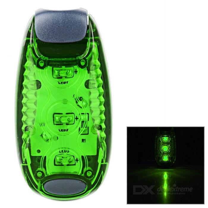 OEM Bezpečnostní zelené LED světlo s klipem pro snadné uchycení na pásek i kolo