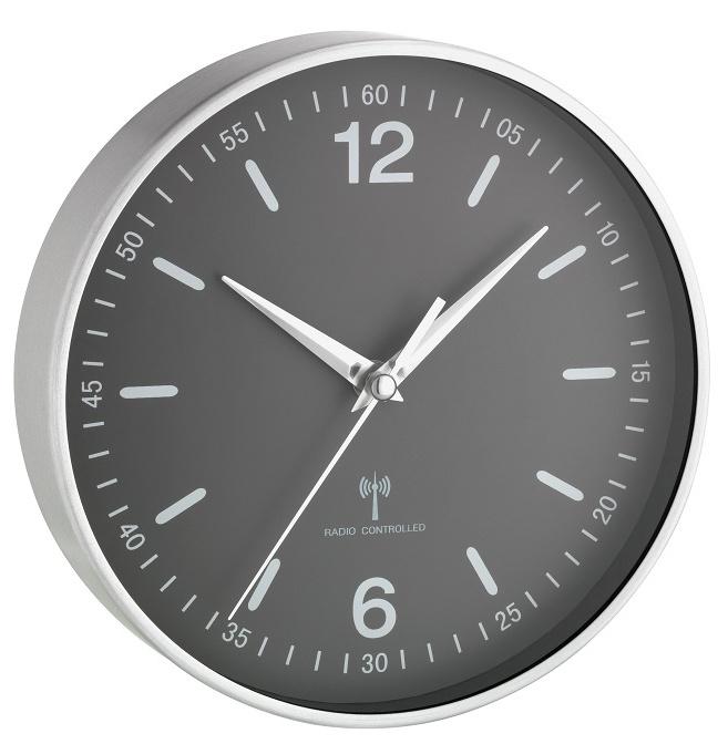 TFA Dostmann Nástěnné DCF hodiny TFA 60.3503.10, Ø 195 mm