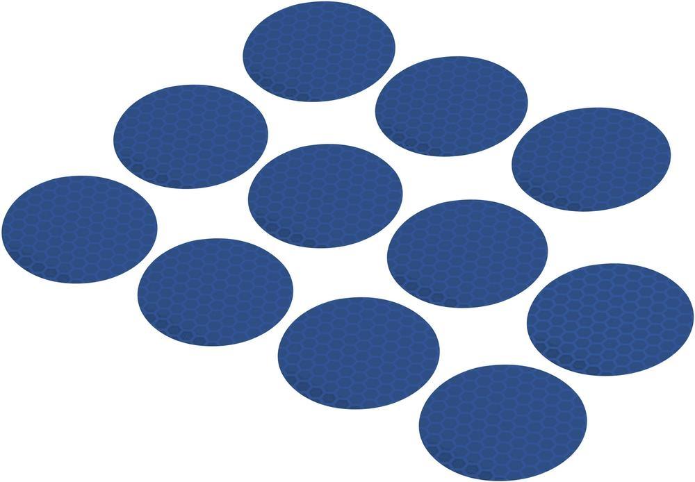Conrad Reflexní lepící kolečka RTS40-BL, Ø 40 mm, 11 ks, modrá