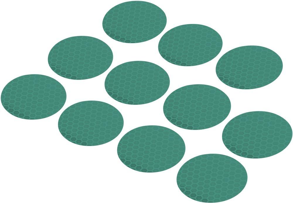 Conrad Reflexní lepící kolečka RTS40-GN, Ø 40 mm, 11 ks, zelená