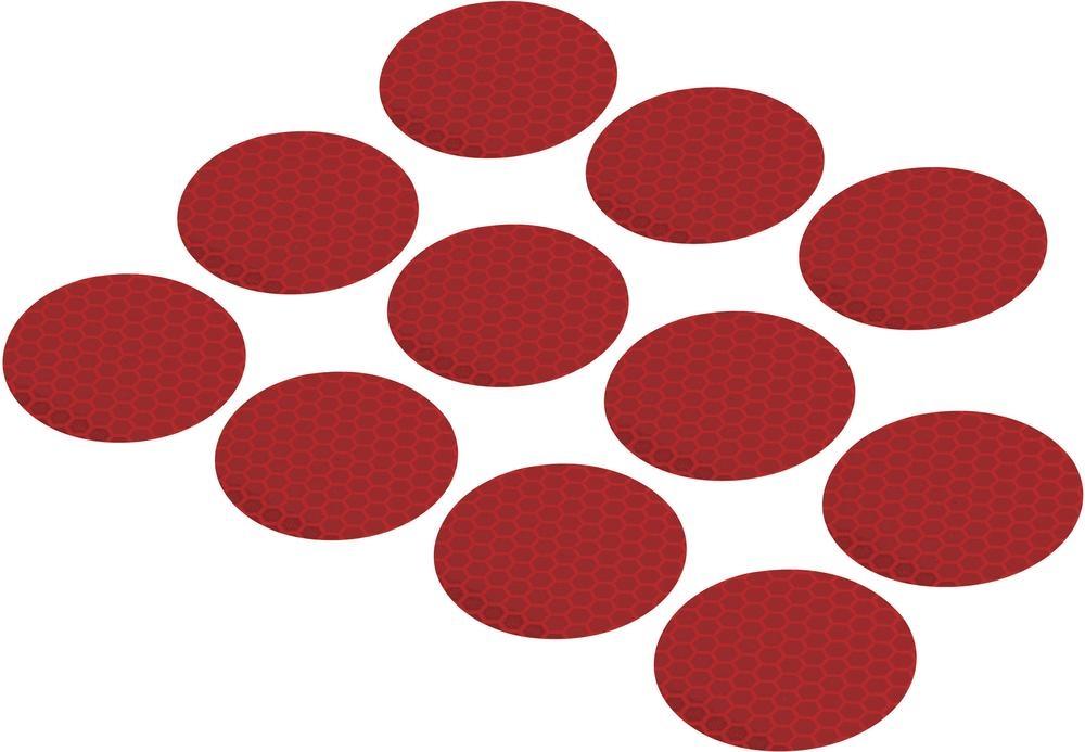 Conrad Reflexní lepící kolečka RTS40-RD, Ø 40 mm, 11 ks, červená
