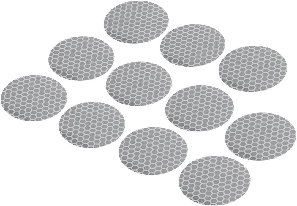 Conrad Reflexní lepící kolečka RTS40-SV, Ø 40 mm, 11 ks, stříbrná