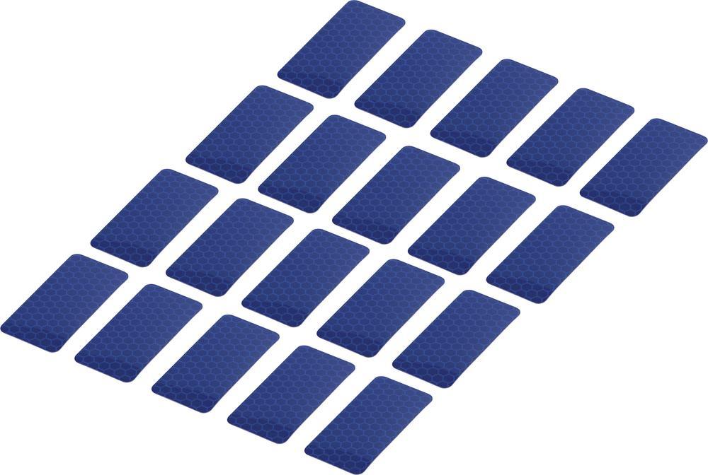 Conrad Reflexní lepicí pásky RTS25/50-BL, 50 mm x 25 mm, 20 ks, modrá