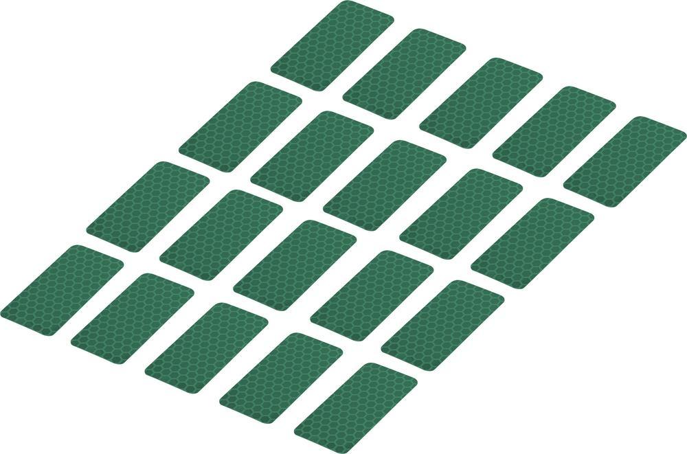 Conrad Reflexní lepicí pásky RTS25/50-GN, 50 mm x 25 mm, 20 ks, zelená