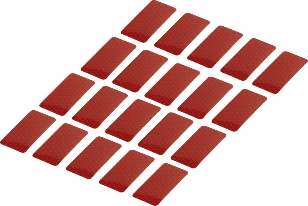 Conrad Reflexní lepicí pásky RTS25/50-RD, 50 mm x 25 mm, 20 ks, červená