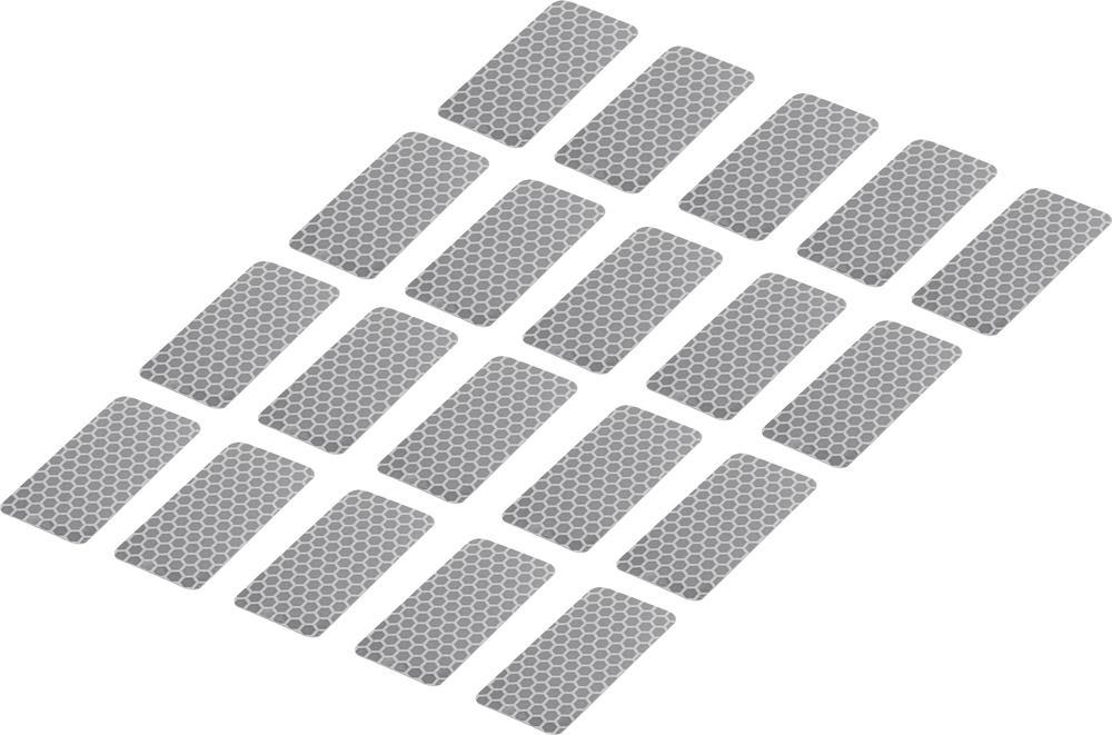 Conrad Reflexní lepicí pásky RTS25/50-SV, 50 mm x 25 mm, 20 ks, stříbrná