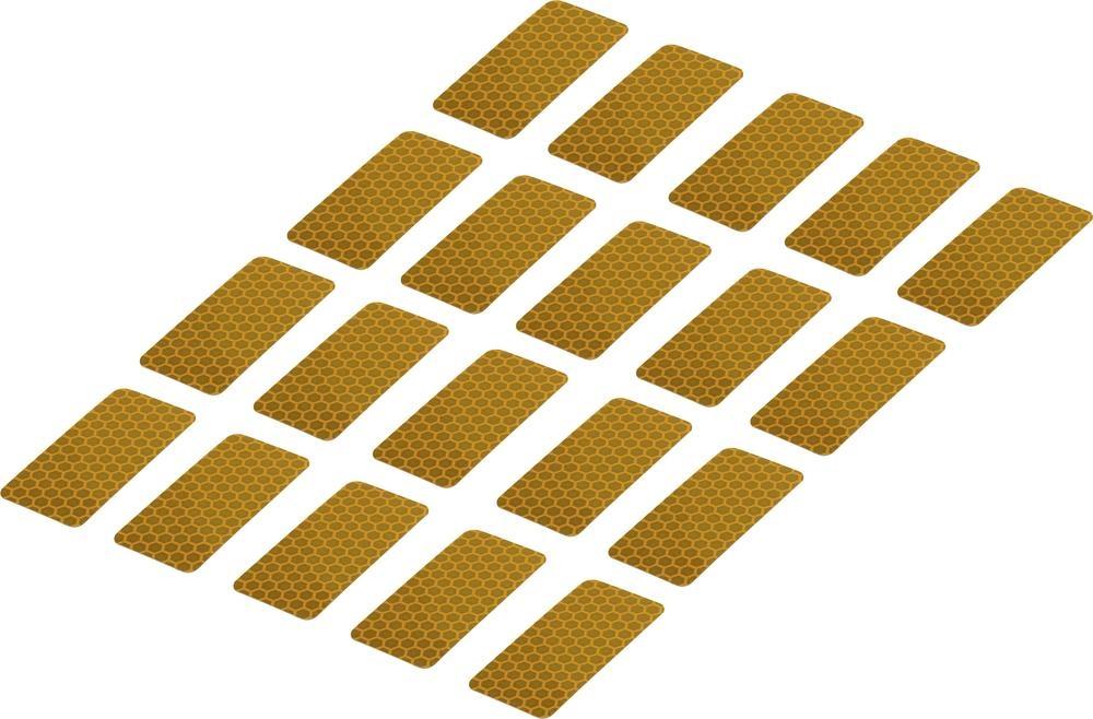 Conrad Reflexní lepicí pásky RTS25/50-YL, 50 mm x 25 mm, 20 ks, žlutá