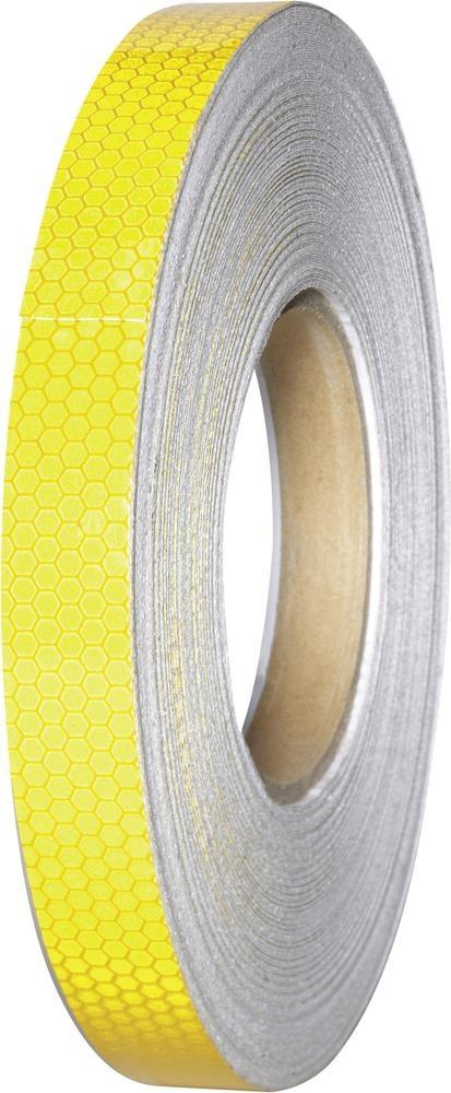 Reflexní lepicí páska Conrad RT19/45M-YL, 45 m x 19 mm, žlutá