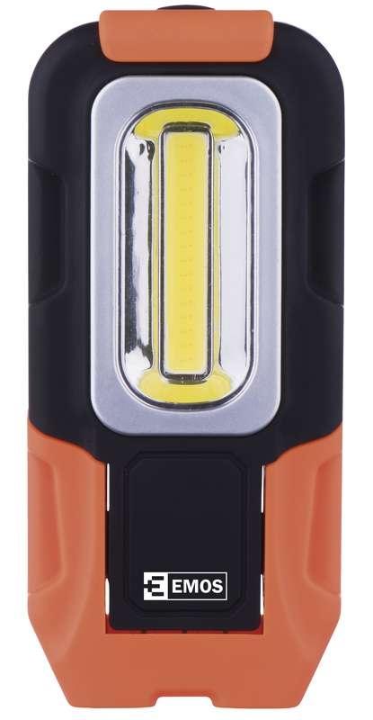 LED svítilna Emos E-6166, plastová, 3W COB LED, na 3x AAA