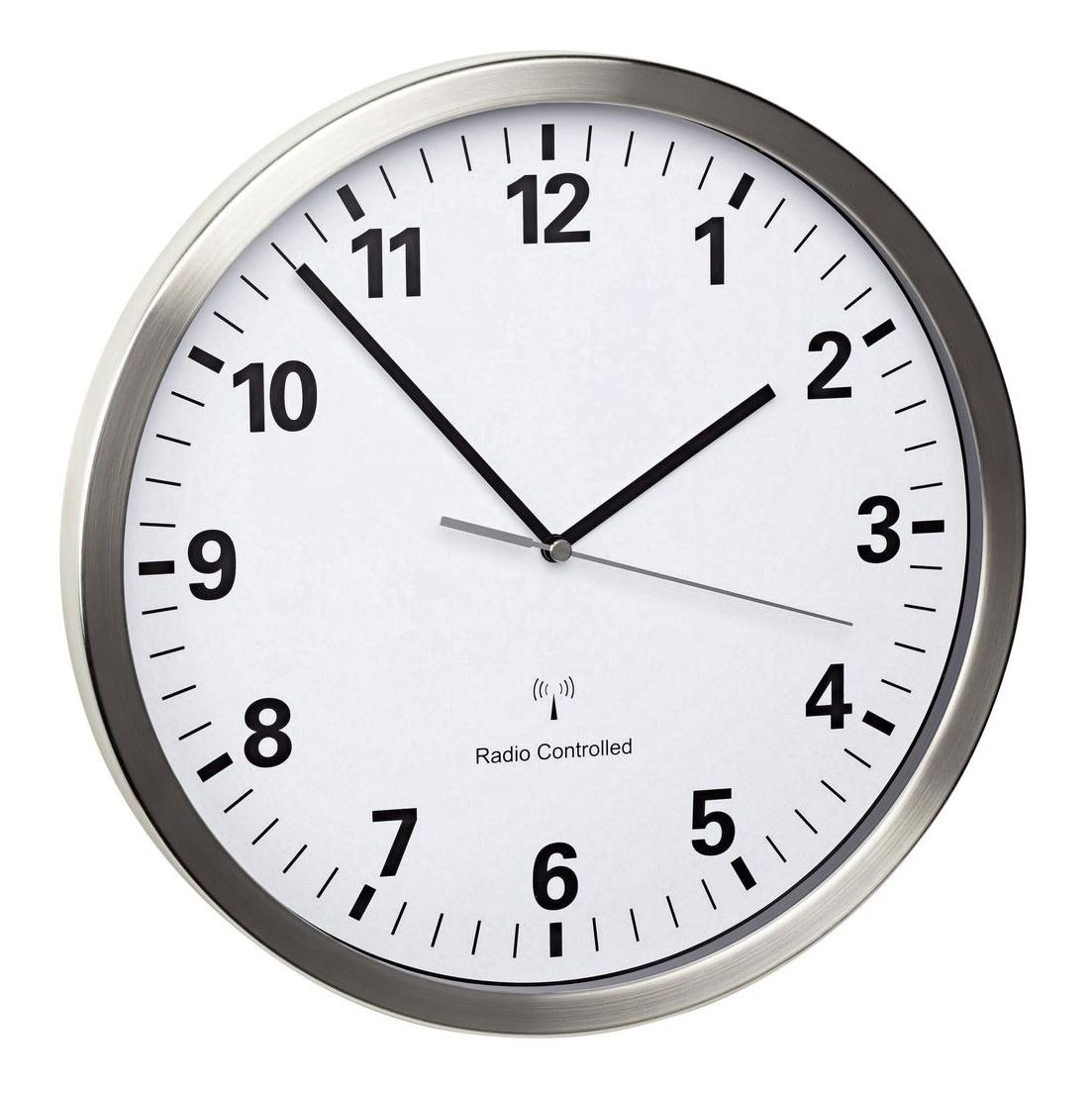 TFA Dostmann Nástěnné DCF hodiny TFA 60.3523.02 s tichým chodem; průměr 305 mm