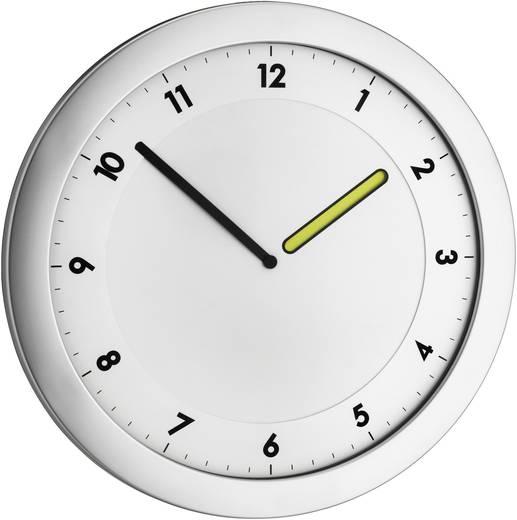 TFA Dostmann Quartz nástěnné hodiny TFA 60.3027.54, Ø 28 cm, kovová stříbrná
