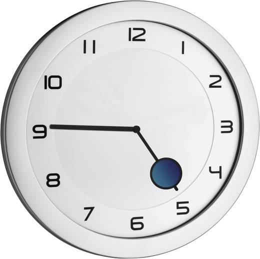 TFA Dostmann Quartz nástěnné hodiny TFA 60.3028.54, Ø 28 cm, kovová stříbrná