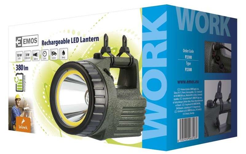 Emos Nabíjecí svítilna LED + COB model 3810 10W | P2308