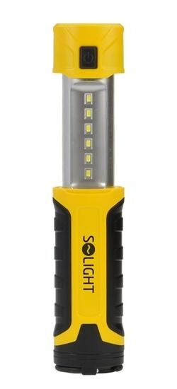 Solight WM15 | pracovní LED lampa vysouvací, 300+80lm, nabíjecí, Li-Ion, černožlutá