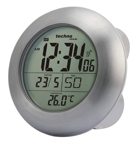 Techno Line Digitální DCF koupelnové hodiny s teploměrem WT 3000