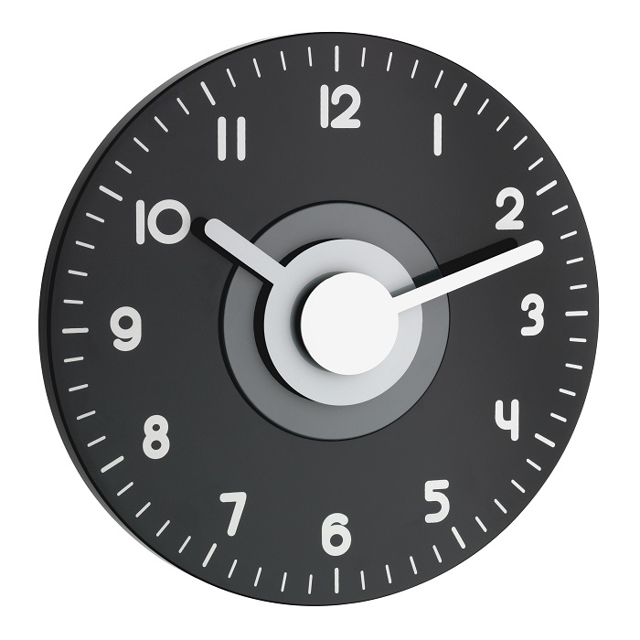 TFA Dostmann Nástěnné hodiny DCF černo-bílé TFA 60.3508.10