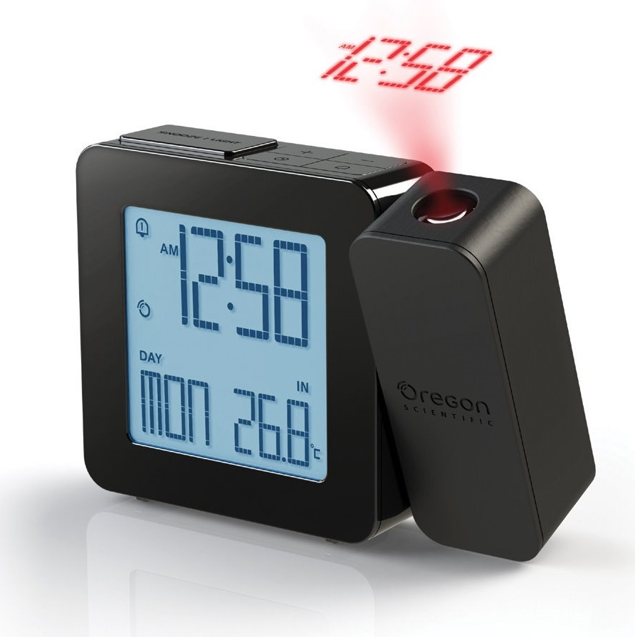 Garni technology Digitální budík s projekcí času RM338PBK PROJI - černá