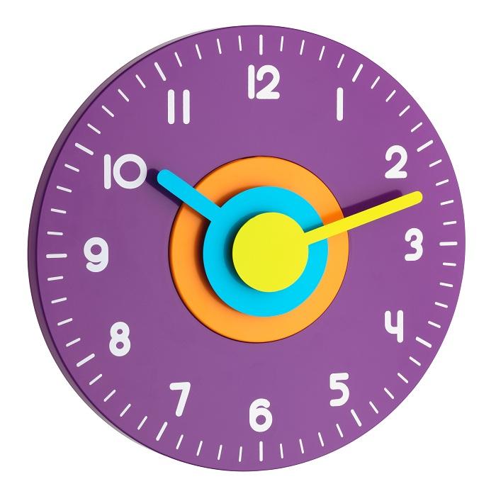 TFA Dostmann Nástěnné hodiny fialové TFA 60.3015.11 POLO