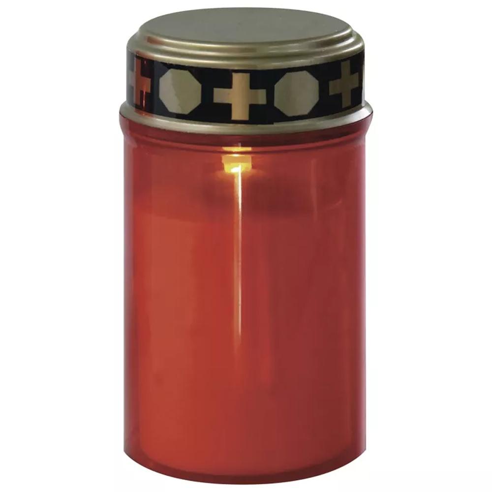 Emos LED hřbitovní svíčka se senzorem, na 2x AA, červená LED | P4607