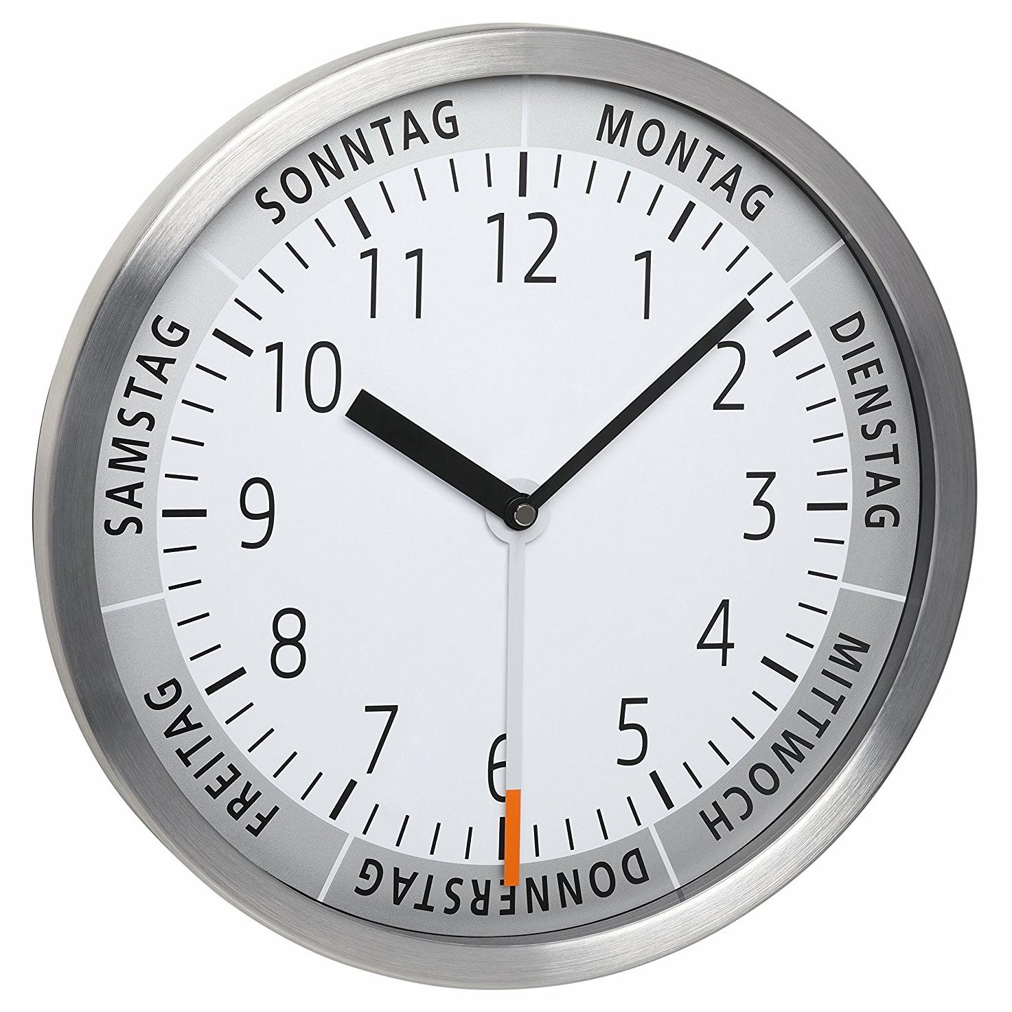 TFA Dostmann Nástěnné hodiny TFA 60.3044.02 s ukazatelem dne v týdnu