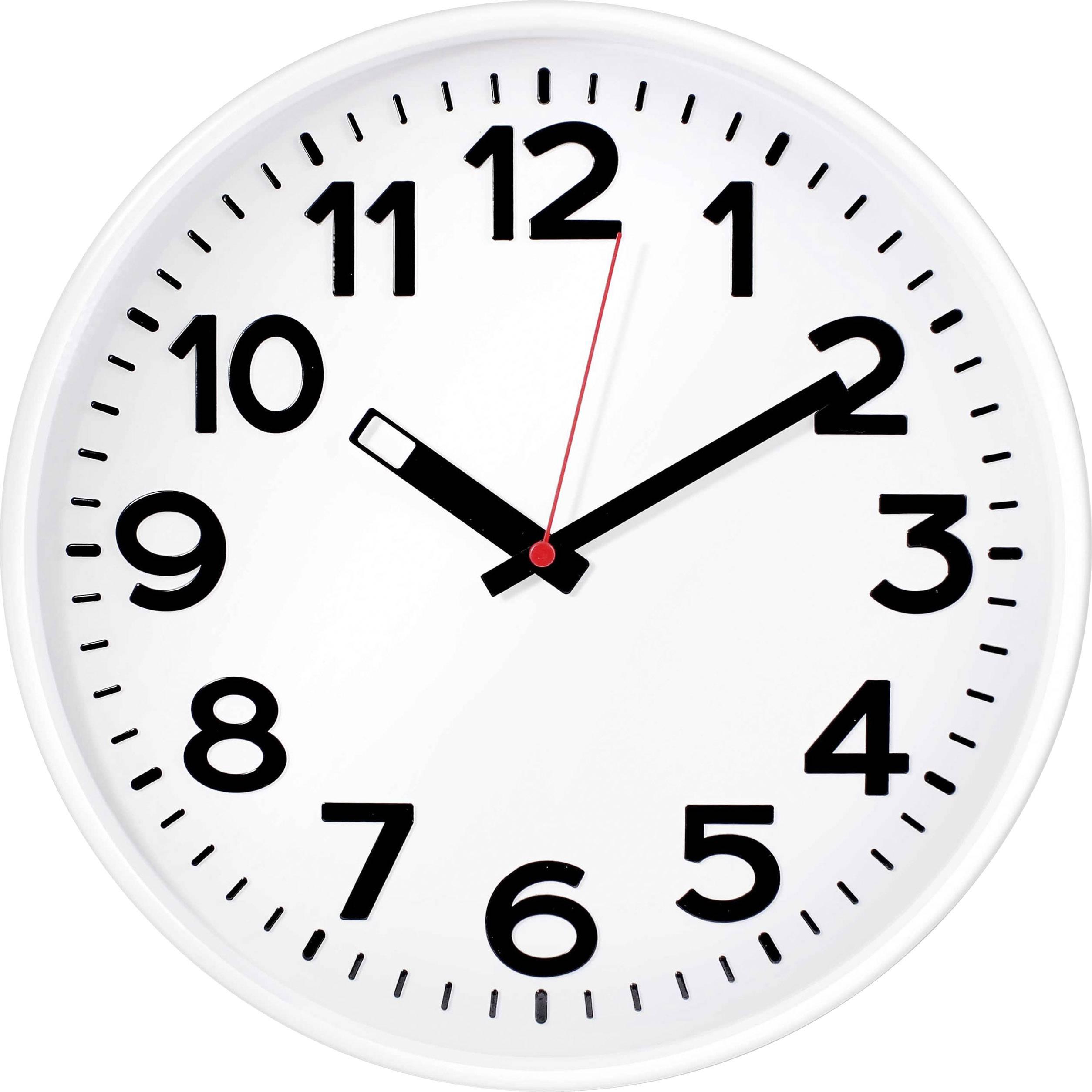 Nástěnné hodiny quartz EUROTIME 82321, vnější Ø 300 mm, bílá