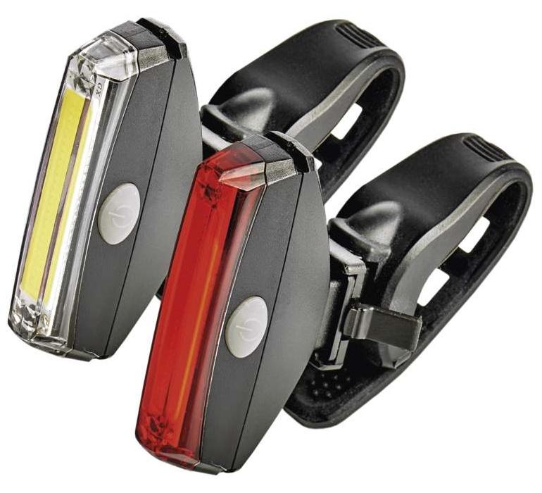 Emos Svítilna na kolo LED COB, SET přední + zadní | P3922
