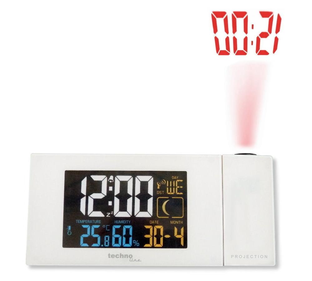 Techno Line Digitální budík s projekcí a měřením vnitřní teploty a vlhkosti - WT 537