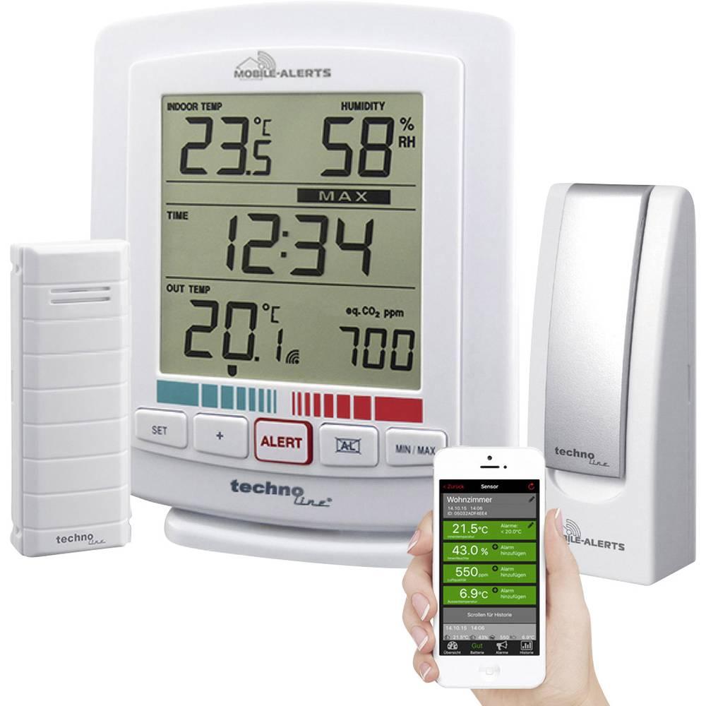 Bezdrátový teploměr a vlhkoměr se senzorem kvality ovzduší Techno Line MA 10005 Mobile-Alerts
