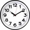 Nástěnné hodiny quartz EUROTIME 82320, vnější Ø 300 mm, černá