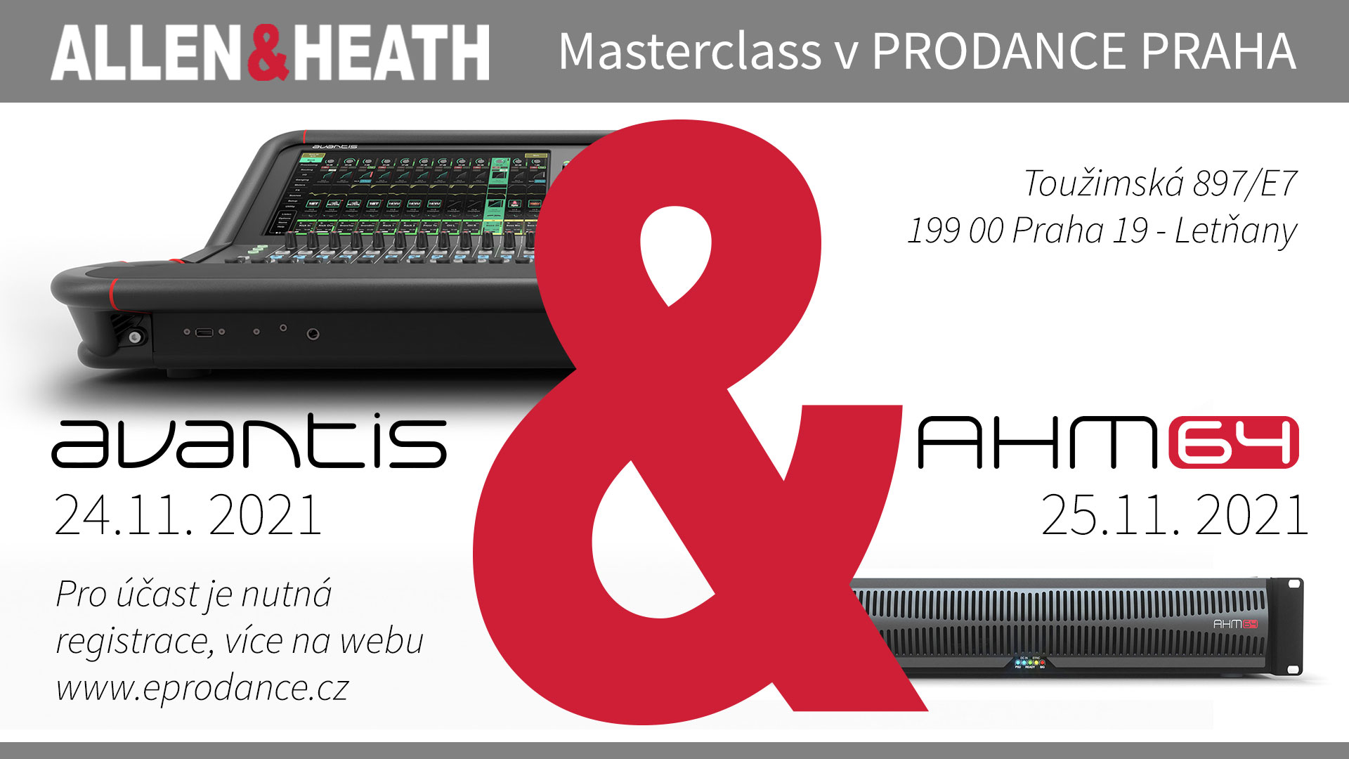 Allen & Heath Masterclass v PRODANCE