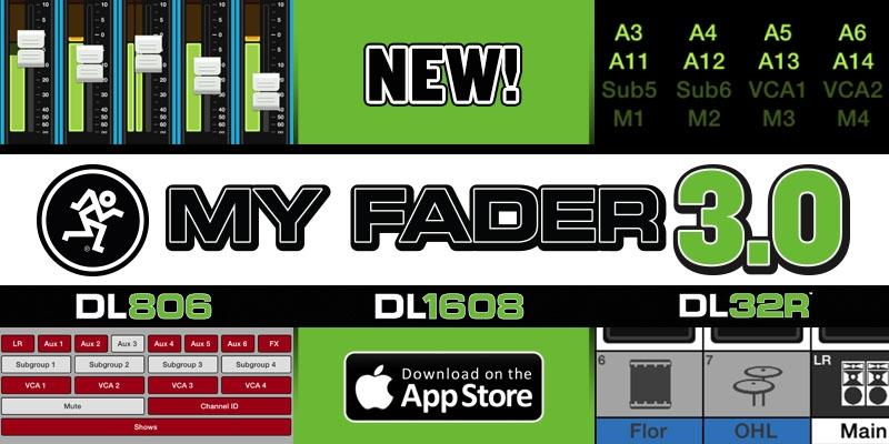 Aplikace Mackie My Fader v3.0 je nyní ke stažení na App Store