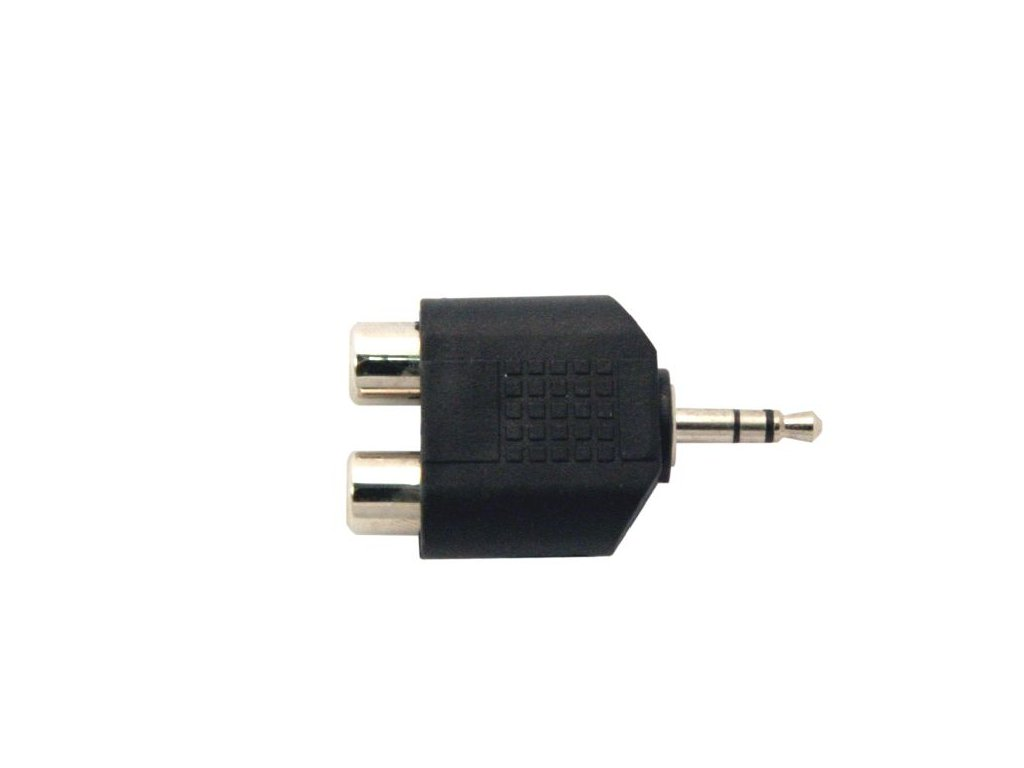 Adapter 2x cinch F/jack 3.5 M