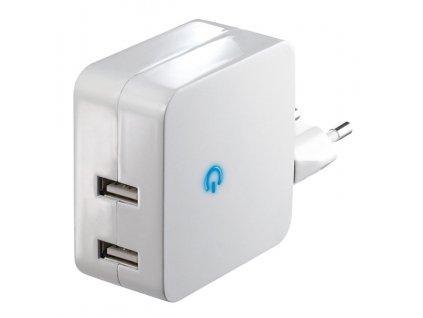 Adapter USB5V/2x2.100, bílý