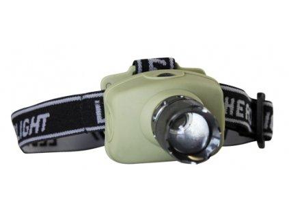 Svítilna čelovka LED 3W 3xAAA