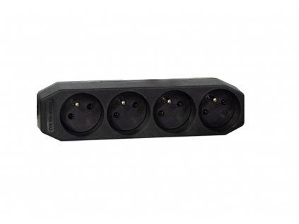 ABB Zásuvka 4x, 16A černá
