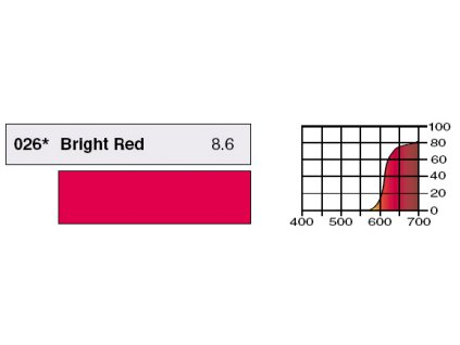 LEE Filters HT026 Bright Red BCM