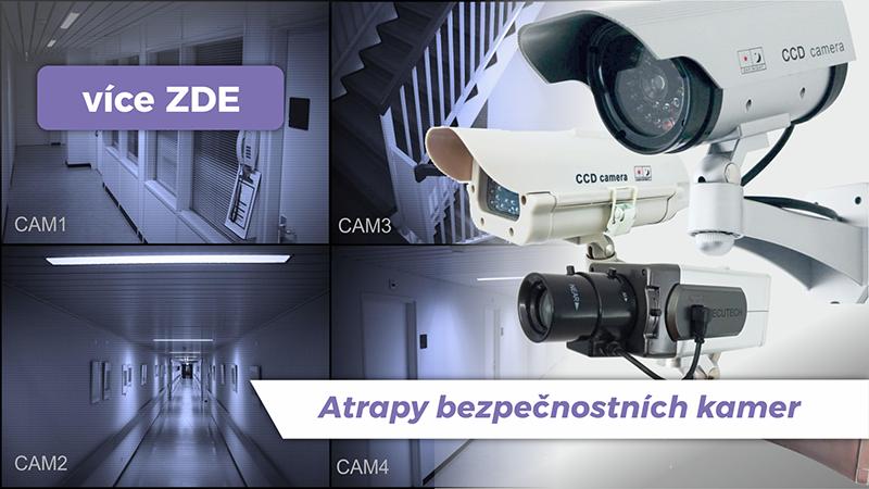 STOP ZLODĚJŮM! Realistické atrapy kamer, které odlákají zloděje.
