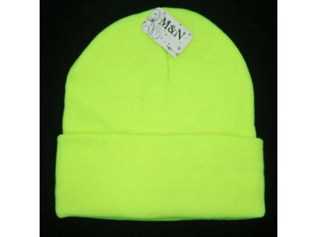 čepice neonová žlutá