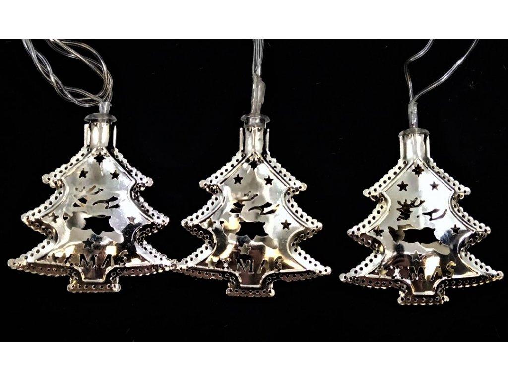 vánoční řetěz stromečky stř