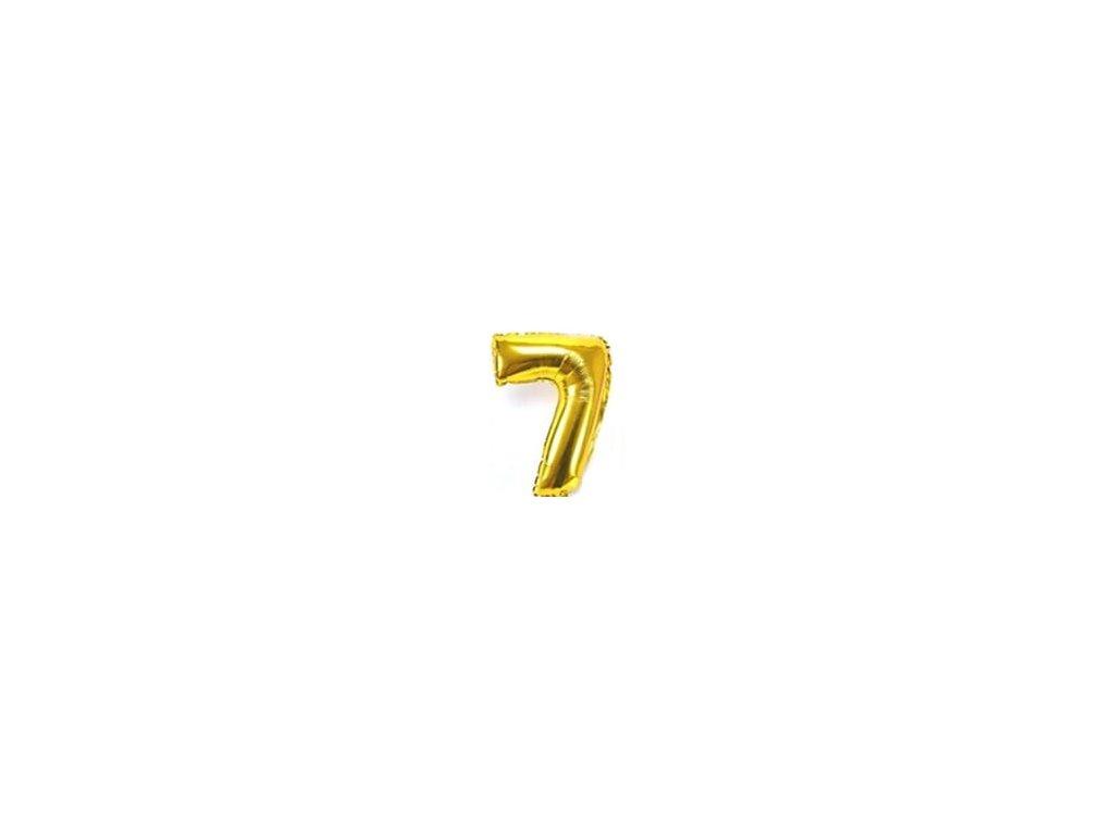 nafukovací balónky 7 zlatý
