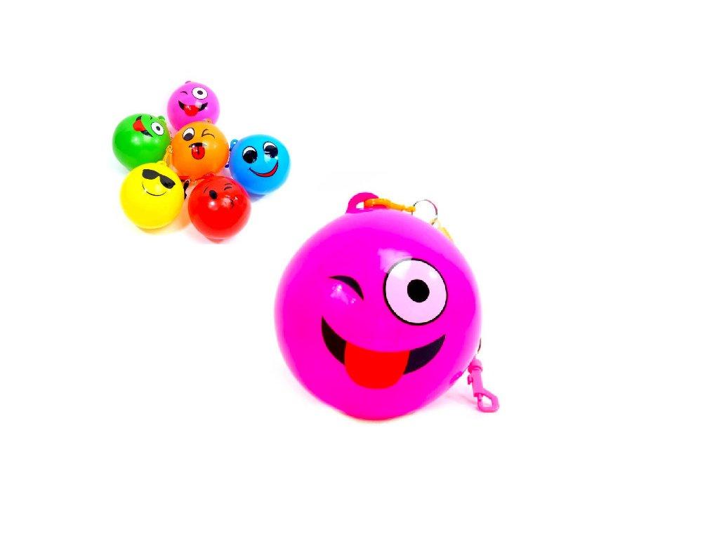 míč na elastickém pásu smajlík