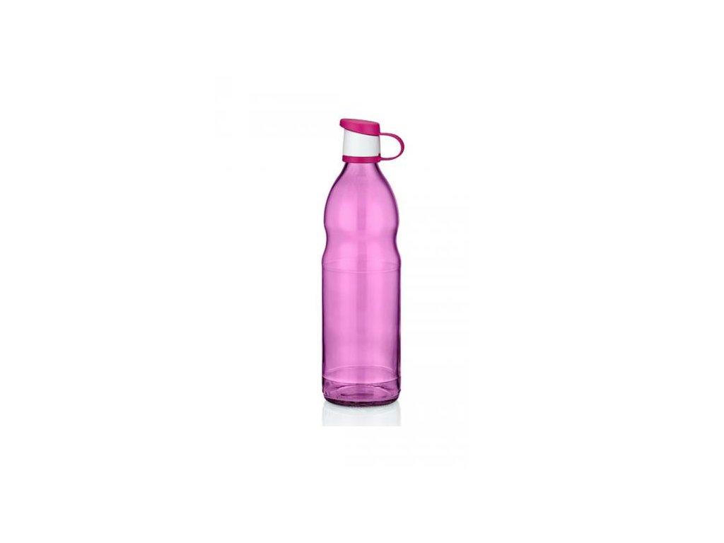 láhev na vodu růžová