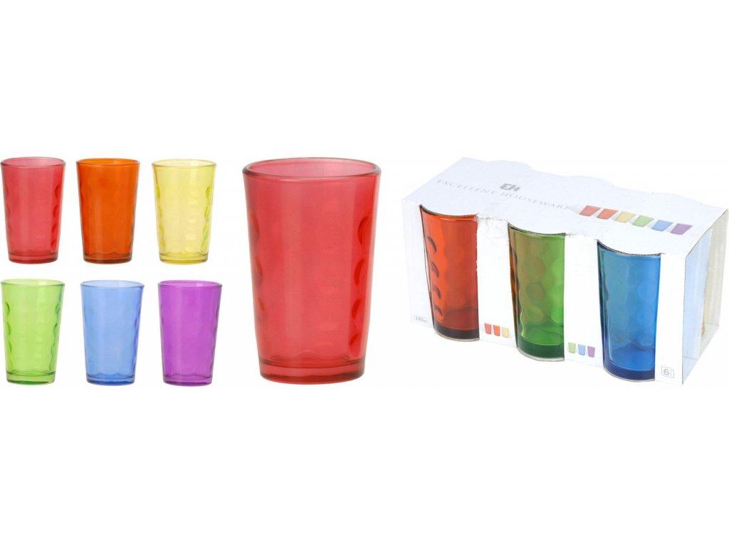 sada sklenic mix barev 6 ks
