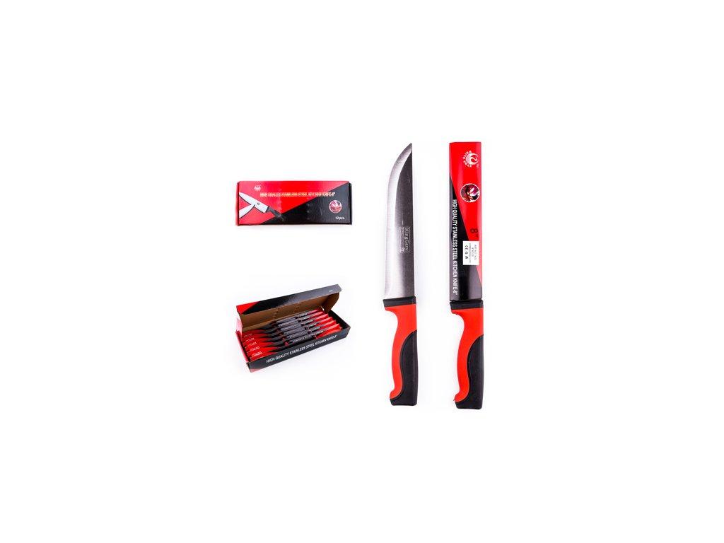 Kuchyňský nůž černo-červený 30 cm