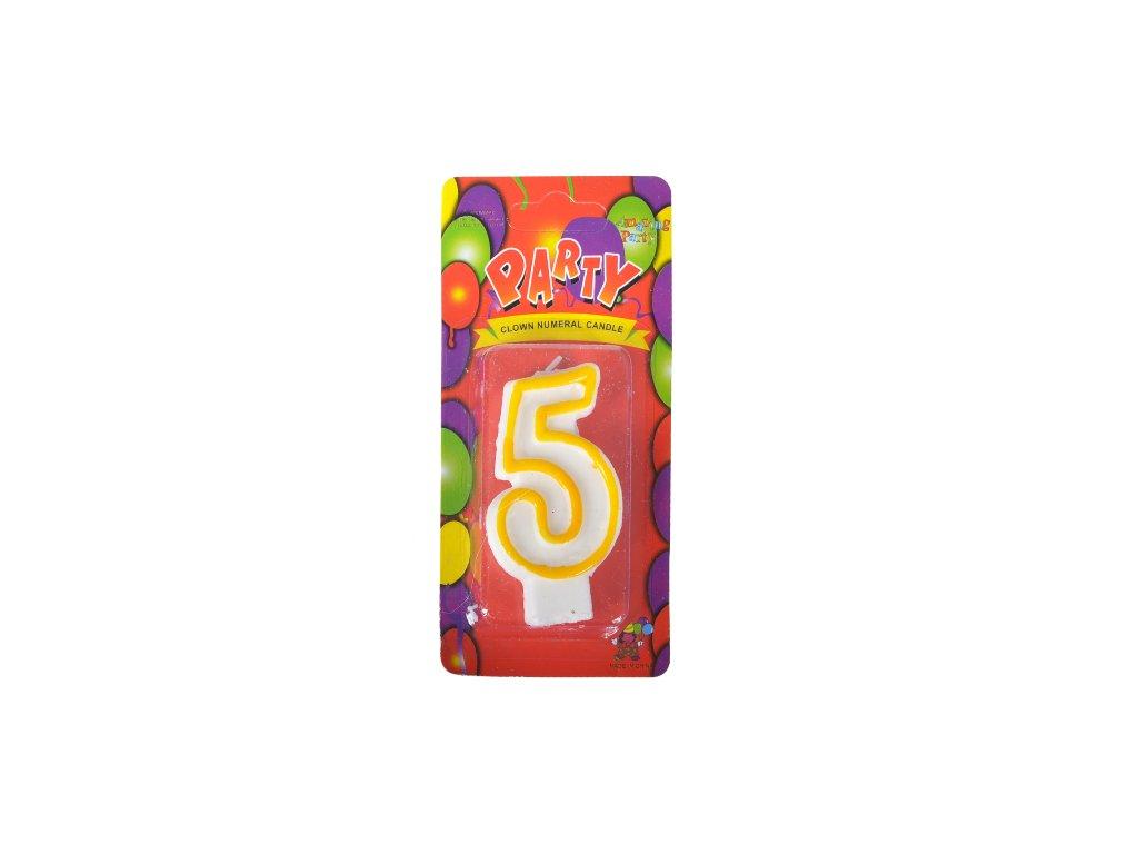 narozeninová svíčka 5