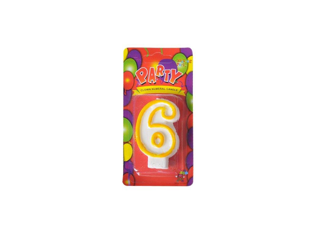 narozeninová svíčka 6