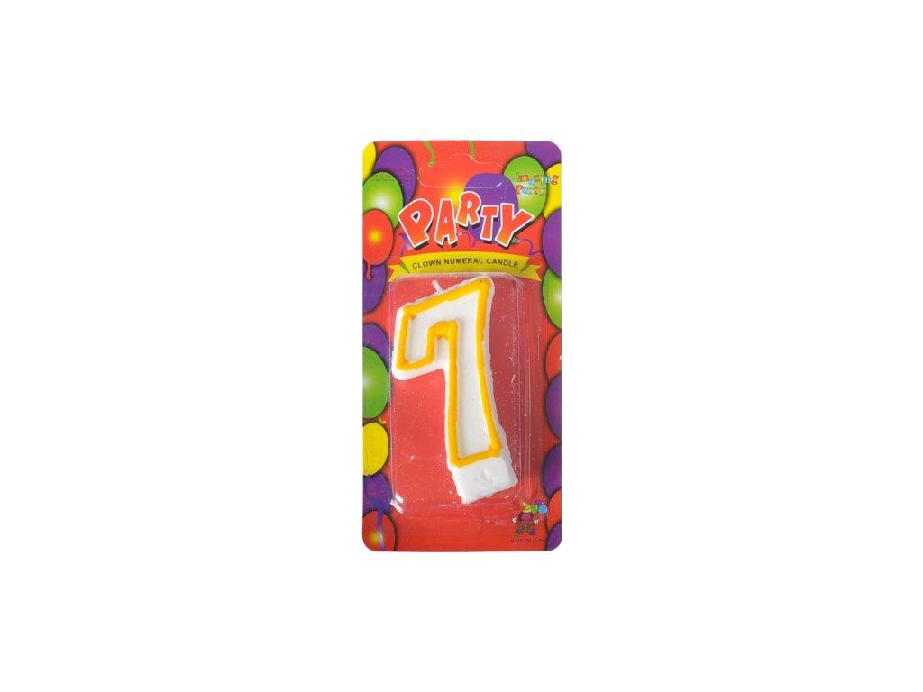 narozeninová svíčka 7
